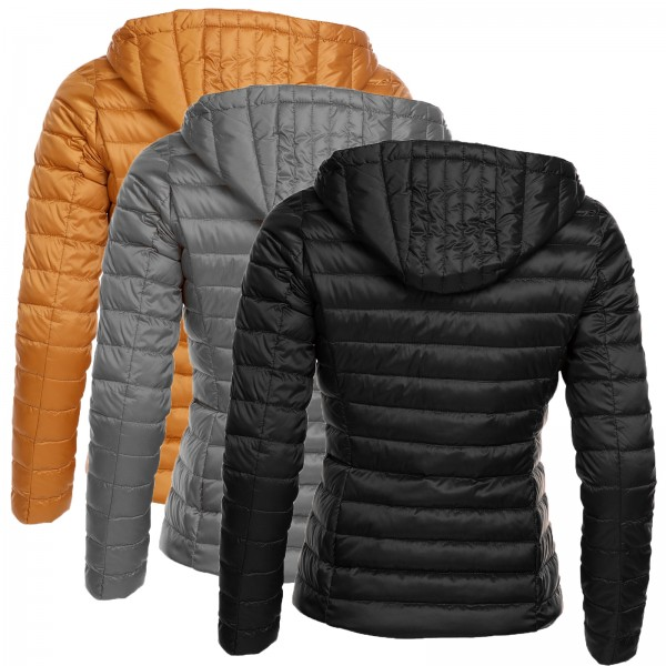 dv 126 damen winter daunen stepp jacke kapuze mantel echt. Black Bedroom Furniture Sets. Home Design Ideas