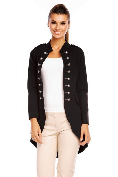 6066 damen jacke military admiral uniform blazer blogger. Black Bedroom Furniture Sets. Home Design Ideas