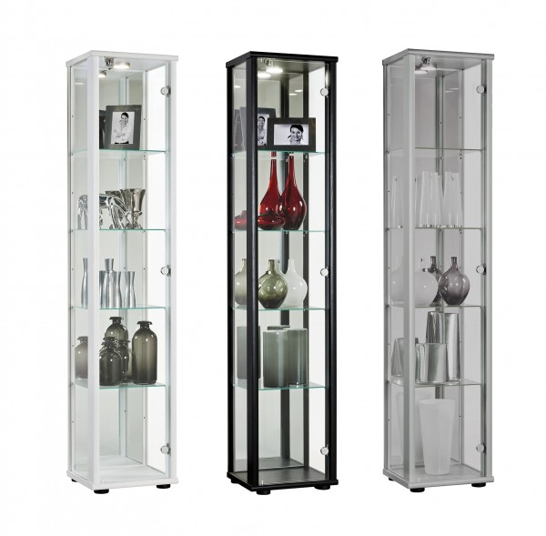 glasvitrine sammlervitrine vitrine led beleuchtet schloss spiegel esg 1trg c1083 ebay. Black Bedroom Furniture Sets. Home Design Ideas