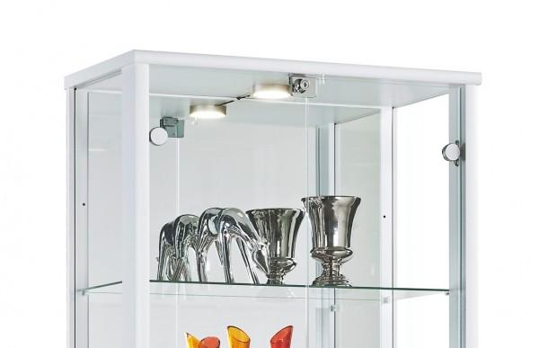 glasvitrine sammlervitrine vitrine led beleuchtet mit schloss spiegel esg c1084 ebay. Black Bedroom Furniture Sets. Home Design Ideas