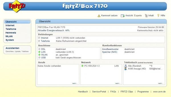 avm fritzbox fon wlan 7170 v2 vorkonfiguriert als access. Black Bedroom Furniture Sets. Home Design Ideas