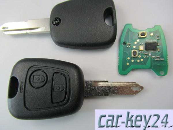 433MHz Funk Fernbedienung Schlüssel mit Transponder Chip ID46 Für PEUGEOT 206