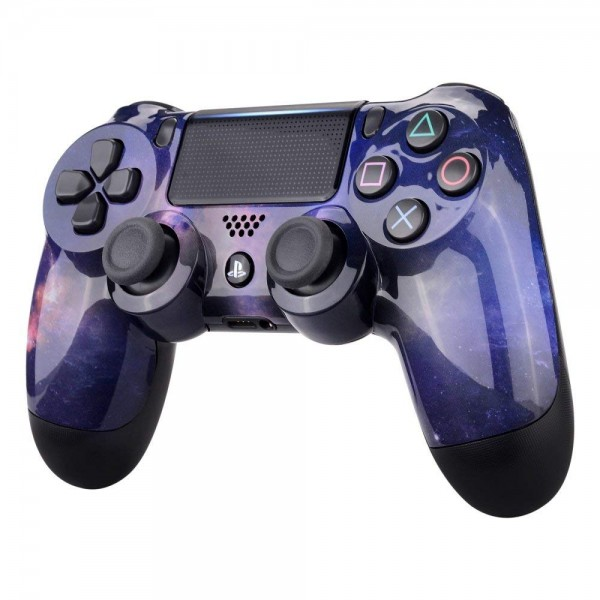 ps4 controller cover case casing shell front purple galaxy. Black Bedroom Furniture Sets. Home Design Ideas