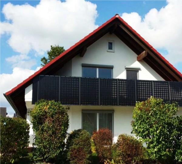 balkon gel nder 3m breite mit photovoltaik module incl strom versorgung ebay. Black Bedroom Furniture Sets. Home Design Ideas