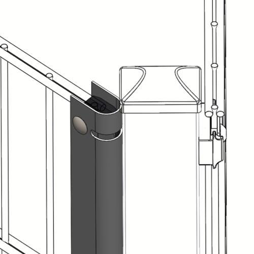 Wandanschluss Zaunanschlussleiste anthrazit RAL7016 zur Eckausbildung oder Zaun