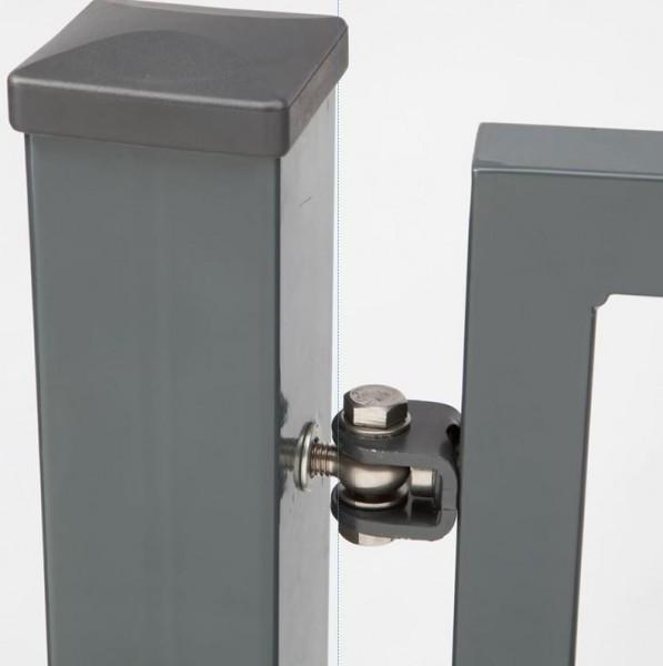gartentor profi 1 flg b 1500mm ral7016 doppelstabmattenzaun doppelstabtor tor ebay. Black Bedroom Furniture Sets. Home Design Ideas