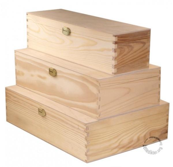 holzbox mit deckel holzkiste holz schatulle aufbewahrungsbox geschenkbox f wein ebay. Black Bedroom Furniture Sets. Home Design Ideas
