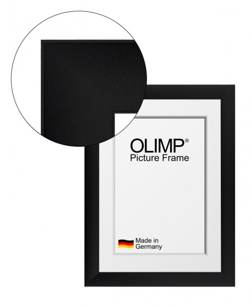 Picture Frame Olimp Grey Wiped with Entspiegeltem Acrylic Glass 10x20-150x100 Cm