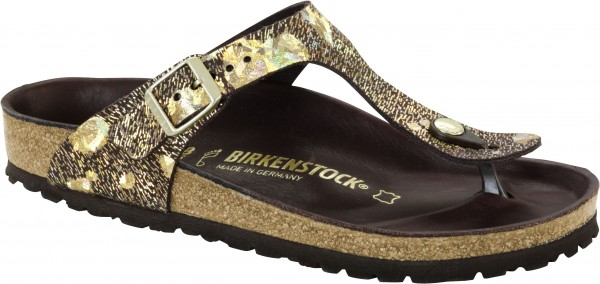 Birkenstock Exquisit Gizeh Spotted Metallic Brown Gr 246 223 E 35