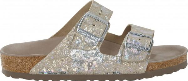 Birkenstock Arizona Exquisit LEDER schmal spotted metallic silver 1006740 NEU | eBay