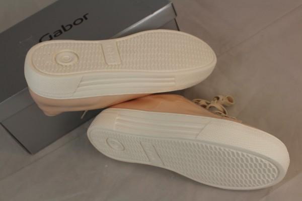 Details zu GABOR Damen Sneaker Lack Leder nude Schuhe Gr 37,5 38,5 39 40 41 42,5 G NEU Y53