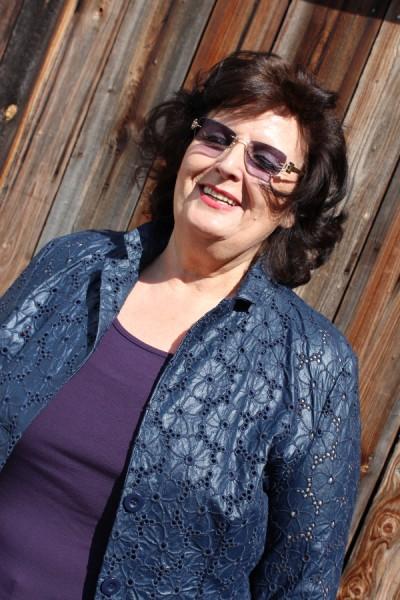 Damen Jacke Blazer marine Leder-Optik Blumenlochmuster Viskose Gr 25 NEU HR193