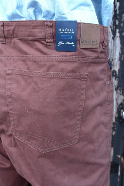 Details zu BRÜHL Herren 5 Pocket Jeans Hose braun stretch Gr 26 35 70 72 74 NEU SALE B306