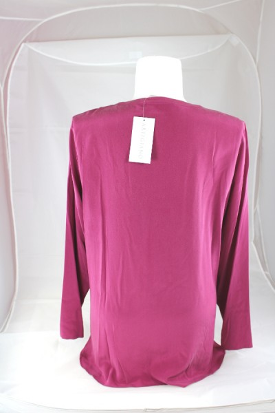 WOW ARTIGIANO Bluse Tunika langarm 100/% Seide creme Gr 48 50 elegant NEU A388