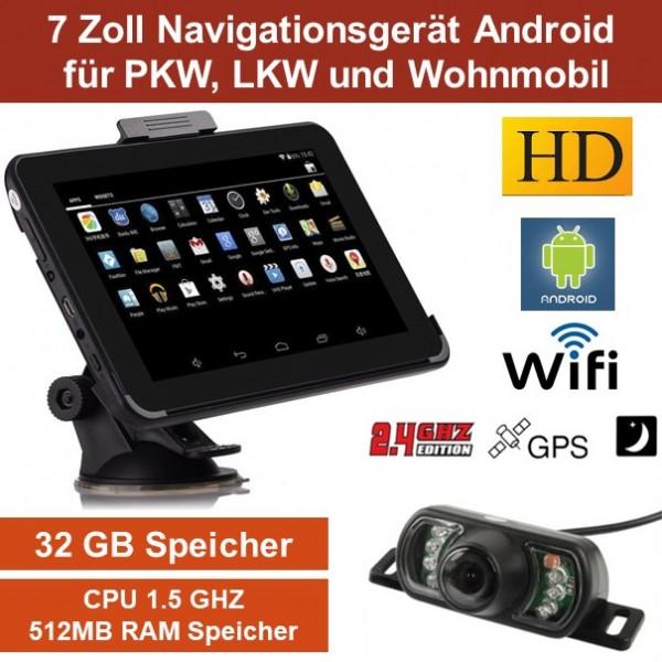 17 8cm 7 zoll gps navigationsger t pkw wohnmobil funk. Black Bedroom Furniture Sets. Home Design Ideas
