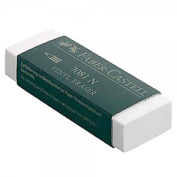 10x Faber-Castell Radierer VINYL ERASER 7081 N aus Kunststoff