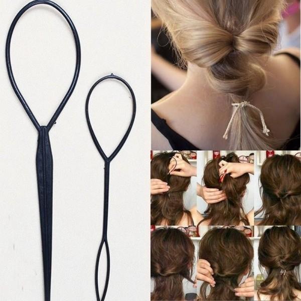 French Hair Braider Sponge Wonder Frisurenhilfe Twister Haardreher Haar-Tail s//#
