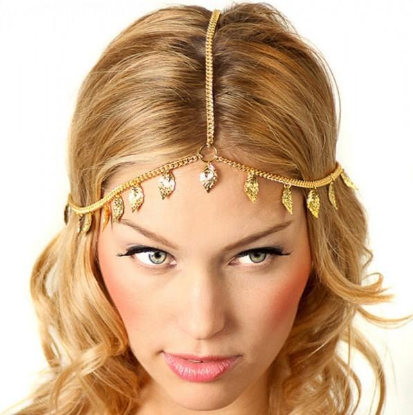 Neu Stirnband Haarband Haarkette Haarschmuck Haarreifen Kopfschmuck Stirnschmuck