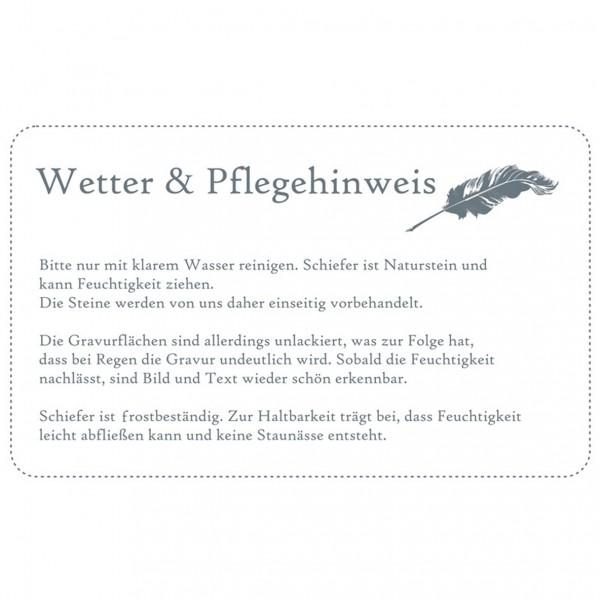 Grabstein Grabplatte Gedenkstein aus Schiefer Ihr Name und Ihr Foto 20x15 cm