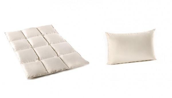 daunen 100 natur luxus kinder baby set federn decke kissen 100x135cm 40x60cm 685784421533 ebay. Black Bedroom Furniture Sets. Home Design Ideas