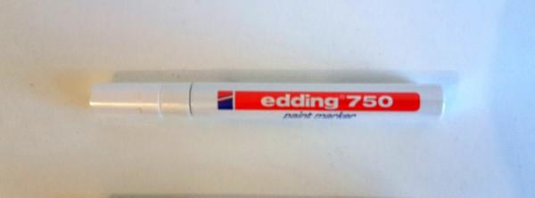 neu edding 750 lackmarker wei 3er set glanzmarker paint marker creative ebay. Black Bedroom Furniture Sets. Home Design Ideas
