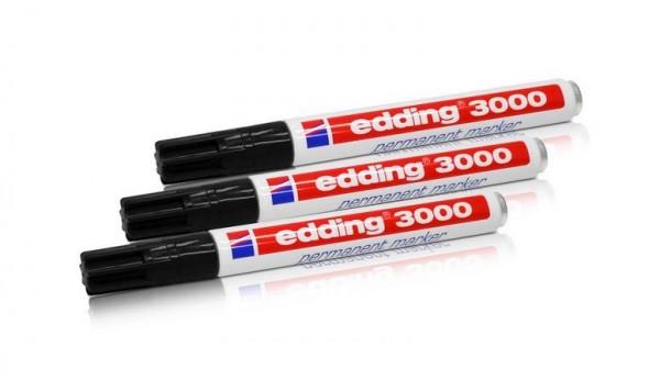 4x Edding 3000 Permanentmarker 4 versch Farben Wasserfest marker 1,5-3 mm