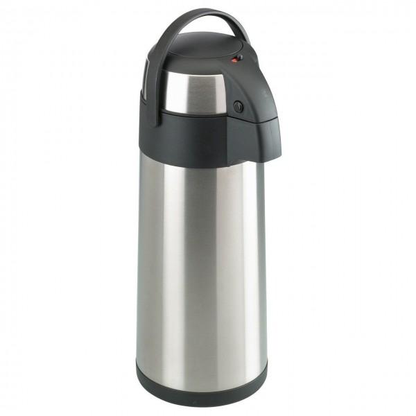 xxl airpot 5l edelstahl pumpkanne thermoskanne isolierkanne kanne kaffeekanneneu ebay. Black Bedroom Furniture Sets. Home Design Ideas