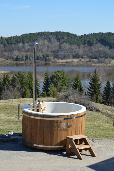 hot tub badezuber badetonne badebottich badefass mit gfk. Black Bedroom Furniture Sets. Home Design Ideas