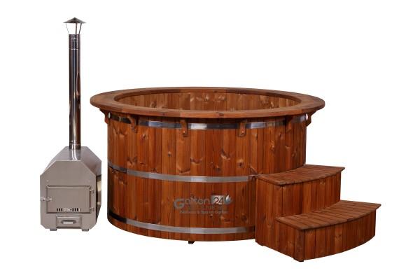 hot tub badetonne badebottich badefass badezuber outdoor garten hot pot ebay. Black Bedroom Furniture Sets. Home Design Ideas