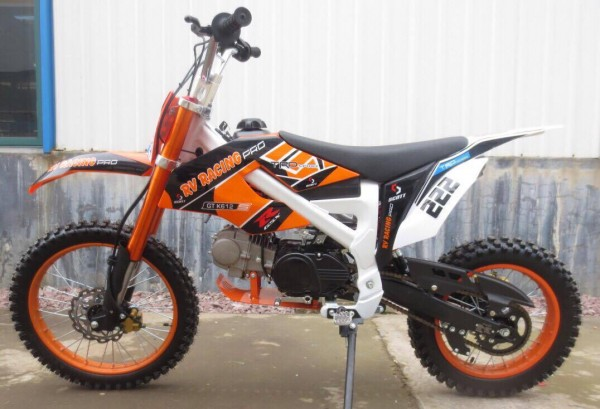 125ccm dirtbike pitbike cross 125cc 4takt 4 gang 17 14 zoll blau enduro motorrad ebay. Black Bedroom Furniture Sets. Home Design Ideas