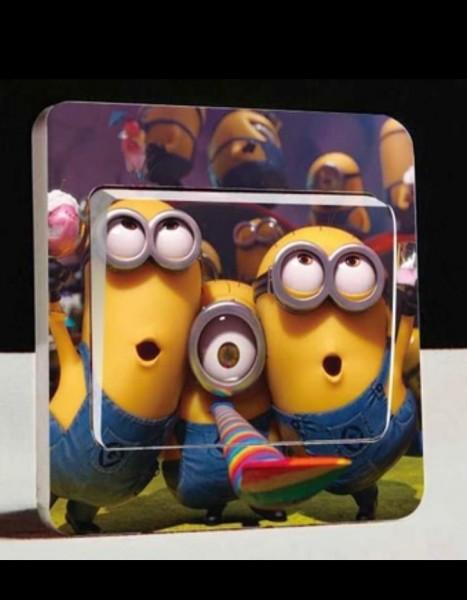 Lichtschalter wandsticker aufkleber wandtattoo kinder cartoon party minions 108 ebay - Minions wandtattoo ...