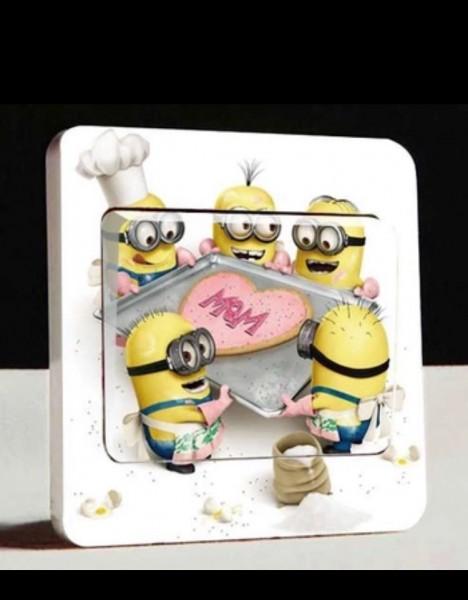 Lichtschalter wandsticker aufkleber wandtattoo kinder cartoon minions 112 ebay - Minions wandtattoo ...