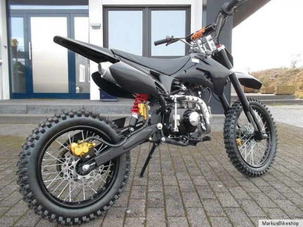 dirtbike pitbike 125ccm crossbike kinder cross motocross. Black Bedroom Furniture Sets. Home Design Ideas