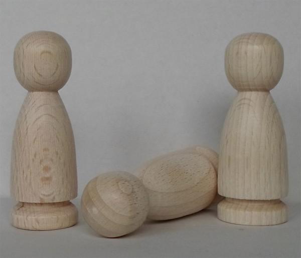 Figurenkegel bauchige Form Buche unlackiert Figur Engel Wichtel Puppe Bastelholz