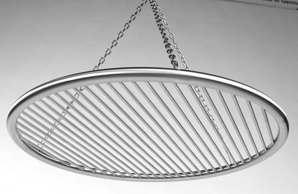 Edelstahl Grillrost 50 cm einzeln entnehmbare 8 mm Stäbe Kettensatz Schwenkgrill