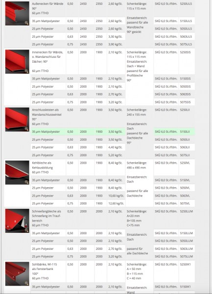 trapezblech 35 207 0 40 mm sonderposten ral farben ebay. Black Bedroom Furniture Sets. Home Design Ideas