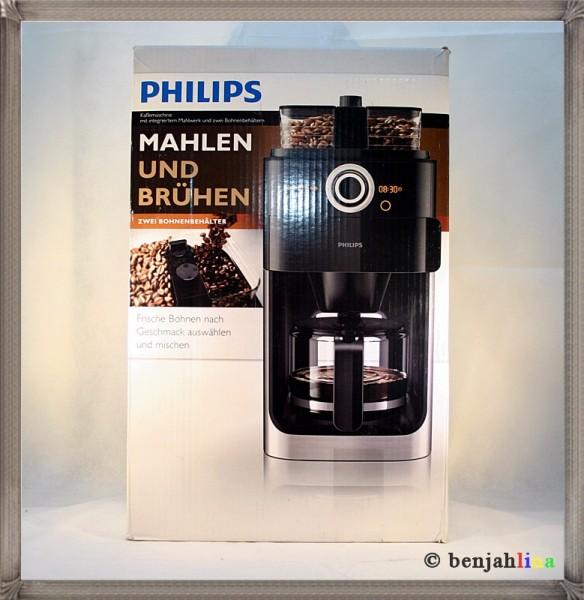 philips hd7762 grind brew metall filter bohnen kaffeemaschine mit 2 beh lter 8710103726913 ebay. Black Bedroom Furniture Sets. Home Design Ideas