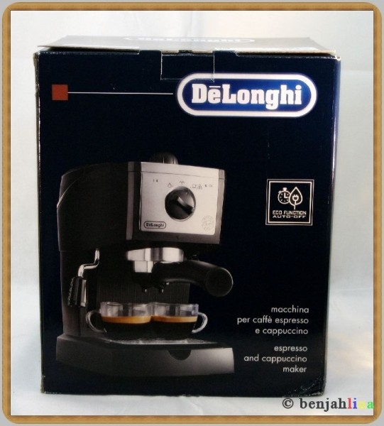 delonghi espressomaschine ec156 siebtr ger schwarz espresso kaffeemaschine ebay. Black Bedroom Furniture Sets. Home Design Ideas