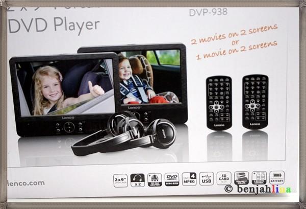 lenco dvp 938 2x 9 zoll dvd player mit bildschirm 2x. Black Bedroom Furniture Sets. Home Design Ideas
