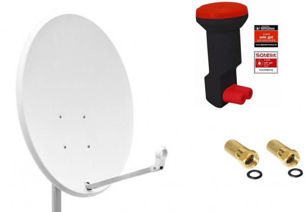 60cm sat antenne satellitensch ssel digital stahl twin. Black Bedroom Furniture Sets. Home Design Ideas