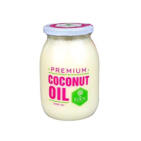 coconut oil kokos l kokosfett 1000ml im glas 100 natural zum kochen braten ebay. Black Bedroom Furniture Sets. Home Design Ideas