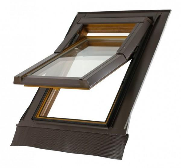 SKYFENSTER Kunststoff Dachfenster SKYLIGHT 78x118 Eindeckrahmen ROLLO !