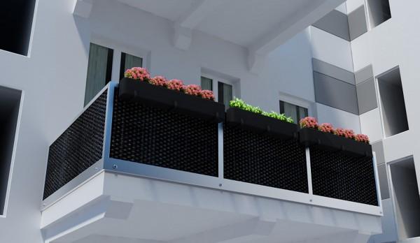 rattan balkon und terrassen sichtschutz balkonverkleidung 90cm 100 cm meterware. Black Bedroom Furniture Sets. Home Design Ideas