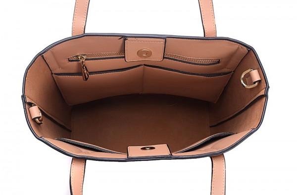 michael kors emry lg ns tote leather bisque handtasche large tasche. Black Bedroom Furniture Sets. Home Design Ideas