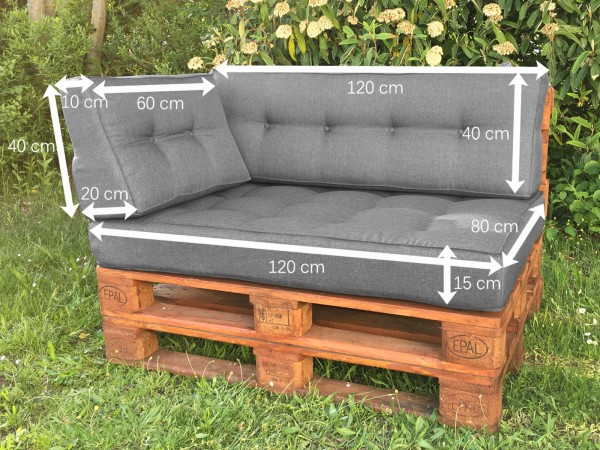 palettenkissen palettenauflage sitzkissen sofa euro paletten polster mh jc02 ebay. Black Bedroom Furniture Sets. Home Design Ideas