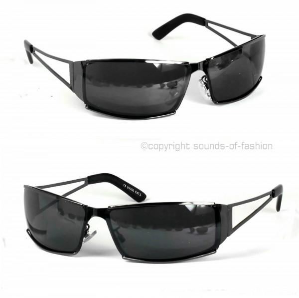 coole herren sonnenbrille biker sport schwarz verspiegelt m620 ebay. Black Bedroom Furniture Sets. Home Design Ideas