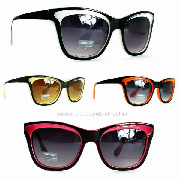 damen cat eye sonnenbrille retro katzenaugen 50 60 ziger jahre rockabilly ebay. Black Bedroom Furniture Sets. Home Design Ideas