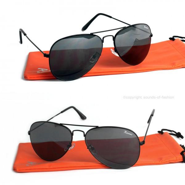 Rennec Piloten Sonnenbrille Gold Braun Grau Verspiegelt 70er Edelstahl Etui
