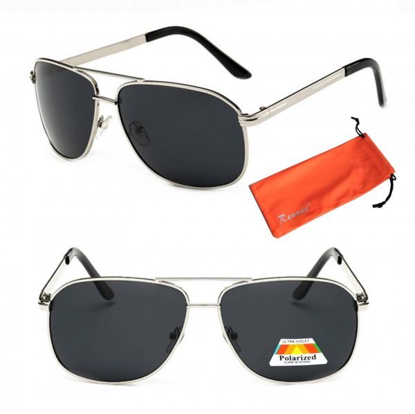 rennec piloten sonnenbrille sportlich polarisiert silber. Black Bedroom Furniture Sets. Home Design Ideas