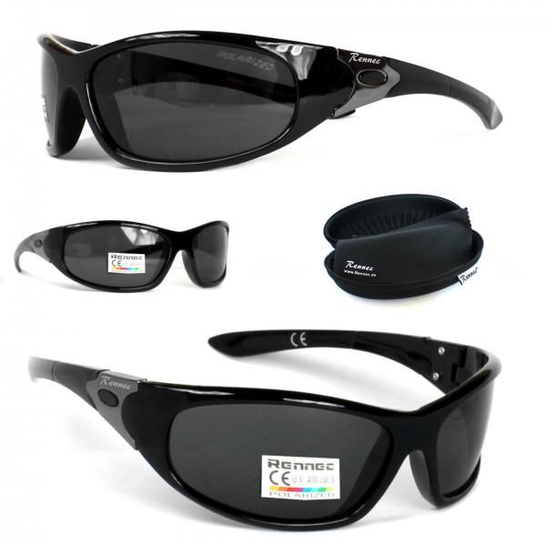 sport sonnenbrille polarisiert schwarz verspiegelt biker. Black Bedroom Furniture Sets. Home Design Ideas